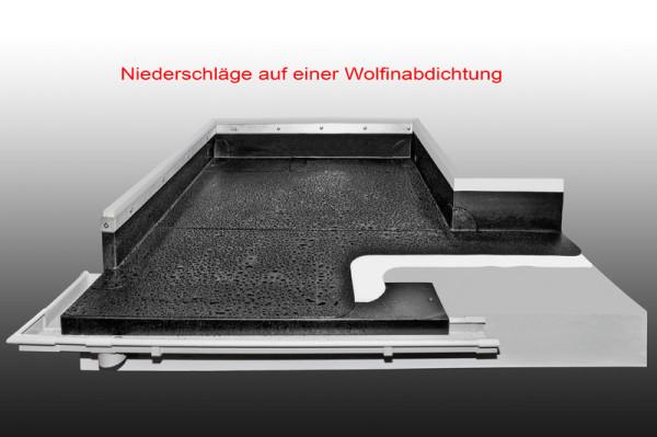 Modell mit PVC-Abdichtungsbahn von Wolfin.
